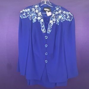 Ursula if Switzerland Blue Suit with Skirt